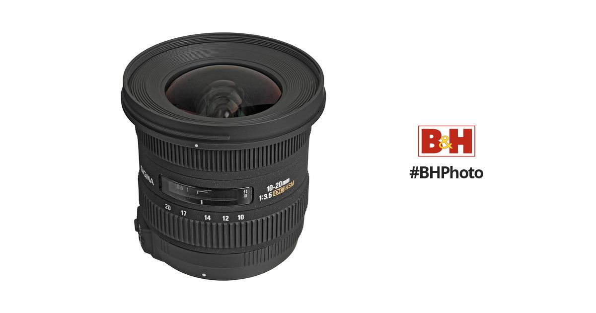Sigma 10-20mm f/3.5 EX DC HSM Autofocus Zoom Lens 202306 B&H