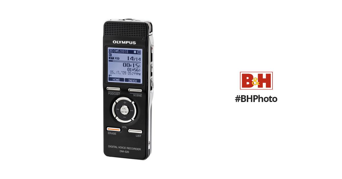 olympus dm 520 digital voice recorder 142075 b h photo video rh bhphotovideo com