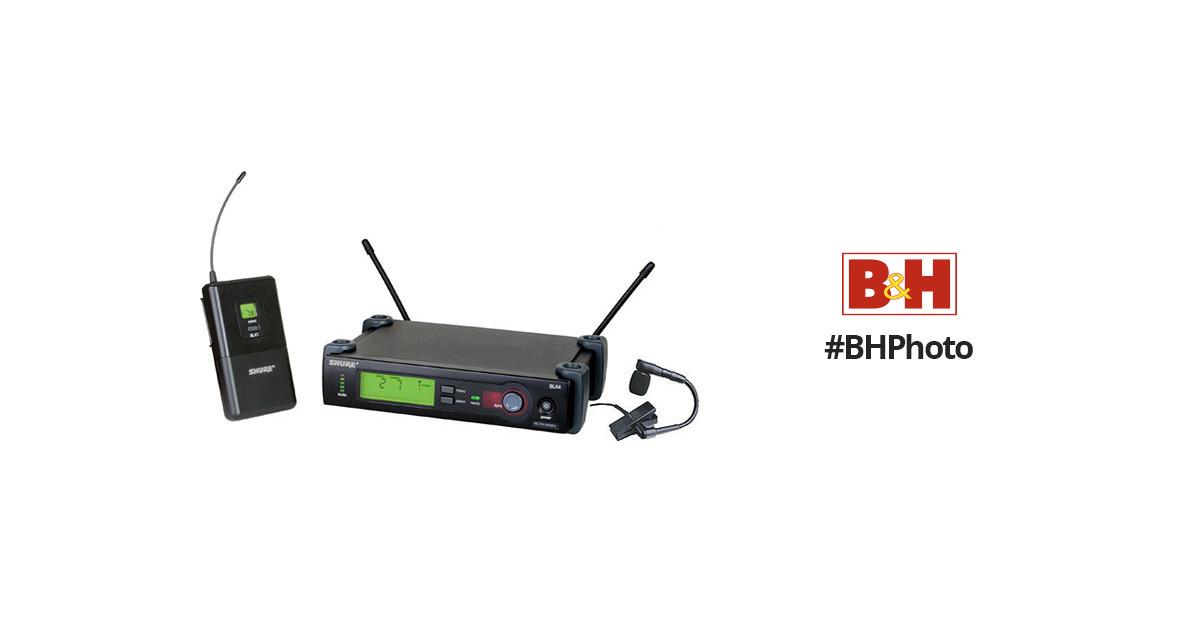shure slx series wireless microphone system slx14 beta98h g4 b h. Black Bedroom Furniture Sets. Home Design Ideas