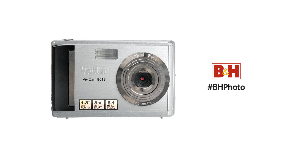 vivitar vivicam 8018 digital camera silver 8018 silver box b h rh bhphotovideo com PowerShot Camera Manual Sony Digital Camera Manual