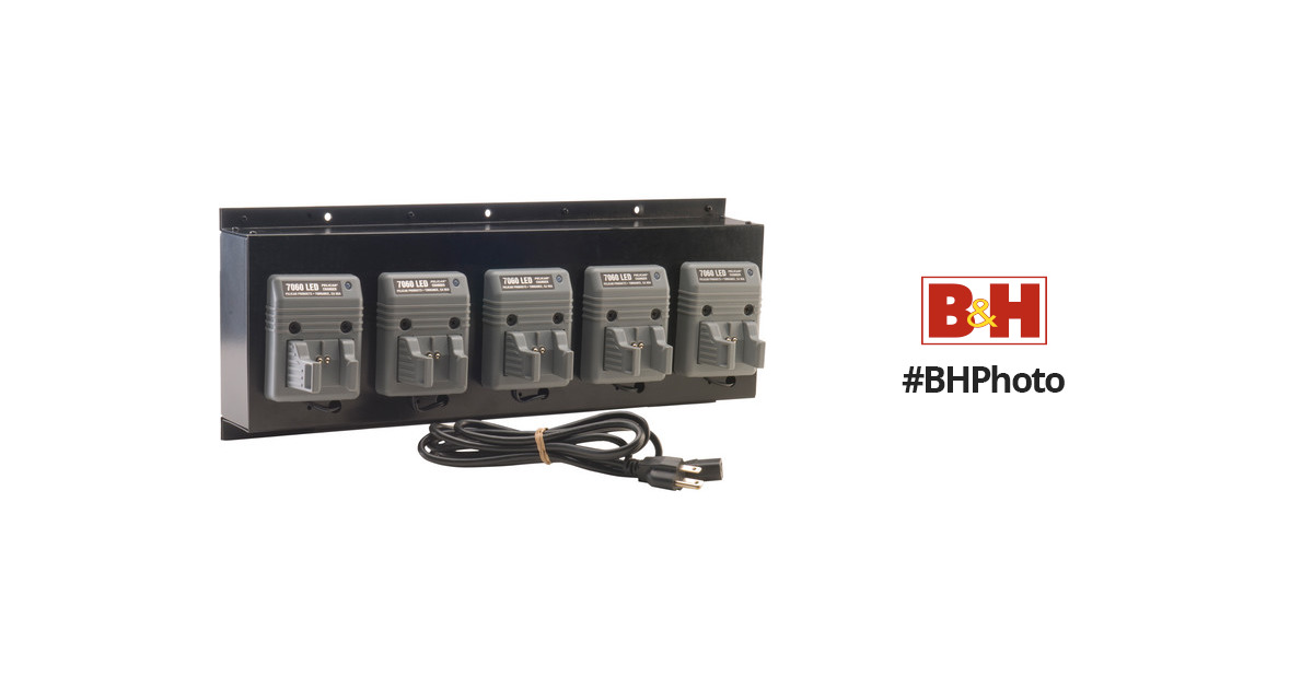 Pelican Fast Bank Charger For Five 7060 Led 7060 505 000 B Amp H