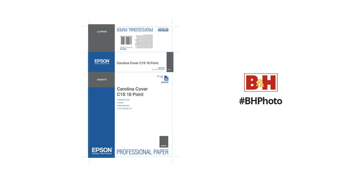 Epson Carolina Cover C1S 18 Point Paper (24 x 36