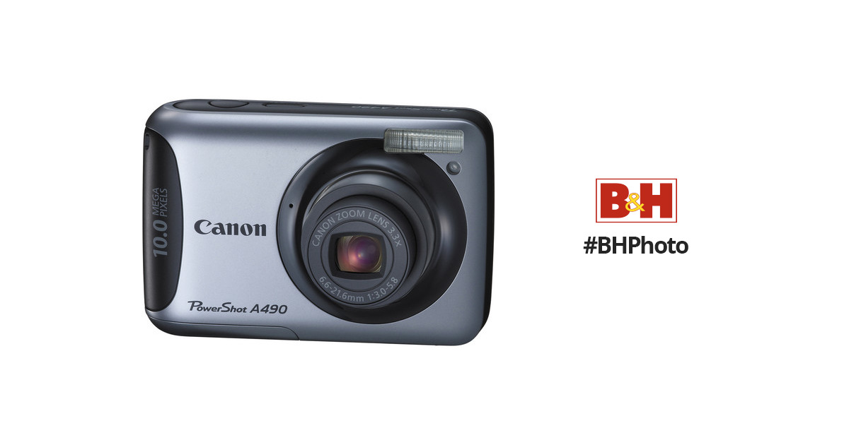 canon powershot a490 digital camera 4258b001 b h photo video rh bhphotovideo com canon a480 manual pdf canon powershot a490 instruction manual