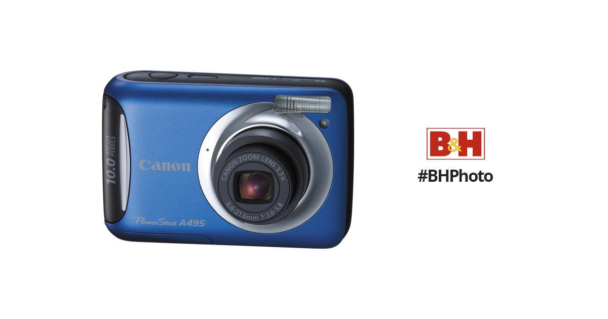 canon powershot a495 digital camera blue 4260b001 b h photo rh bhphotovideo com Blue Canon PowerShot Canon PowerShot G12