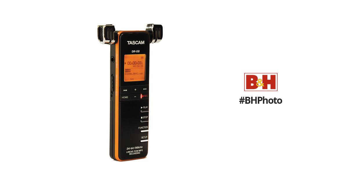 Tascam Dr 08 Portable Digital Audio Recorder Dr 08 B H Photo