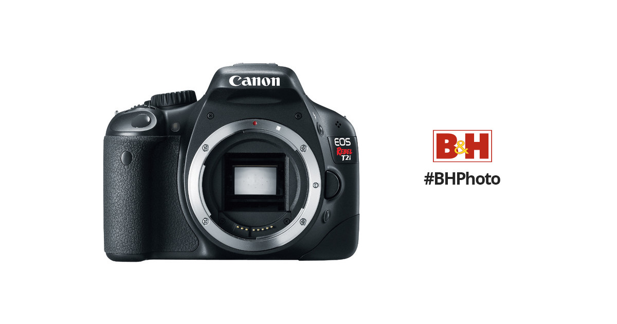 canon eos rebel t2i digital slr camera body only 4462b001 b h rh bhphotovideo com Canon EOS Rebel T21 canon eos rebel t2i user manual pdf