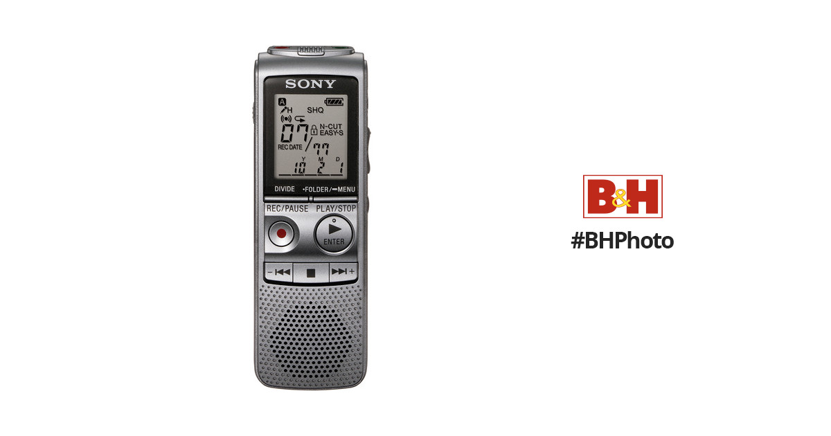sony icd bx800 digital voice recorder icdbx800 b h photo video rh bhphotovideo com Sony ICF sony voice recorder icd-bx800 manual