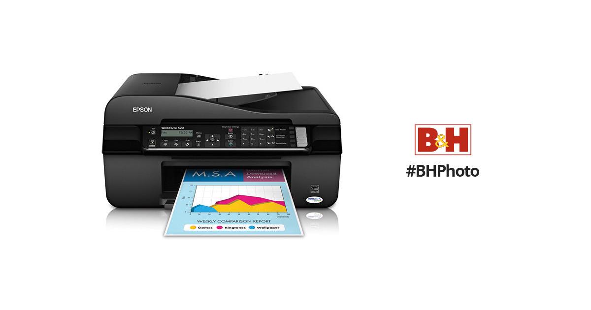 epson workforce 520 wireless all in one inkjet printer rh bhphotovideo com Epson Workforce 323 Epson Workforce 800