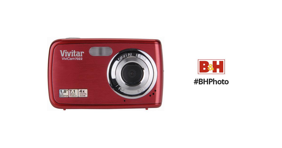 vivitar vivicam 7022 digital camera strawberry v7022staw b h rh bhphotovideo com Vivitar ViviCam Accessories Vivitar ViviCam X022 User Manual