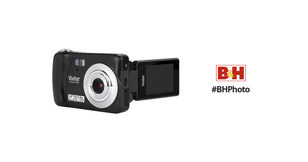 vivitar vivicam x018 digital camera black vx018black b h photo rh bhphotovideo com Vivitar ViviCam 8400 Vivitar ViviCam 8400