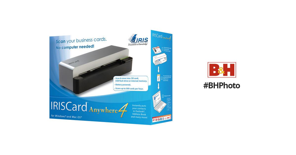 Iris iriscard anywhere 4 scanner wireless 456981 bh photo reheart Choice Image