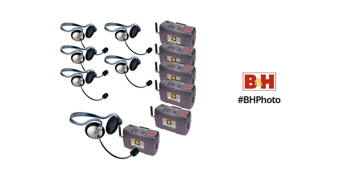 Eartec 6 User Pcx Digital Wireless Intercom System Pcxvs6 B Amp H