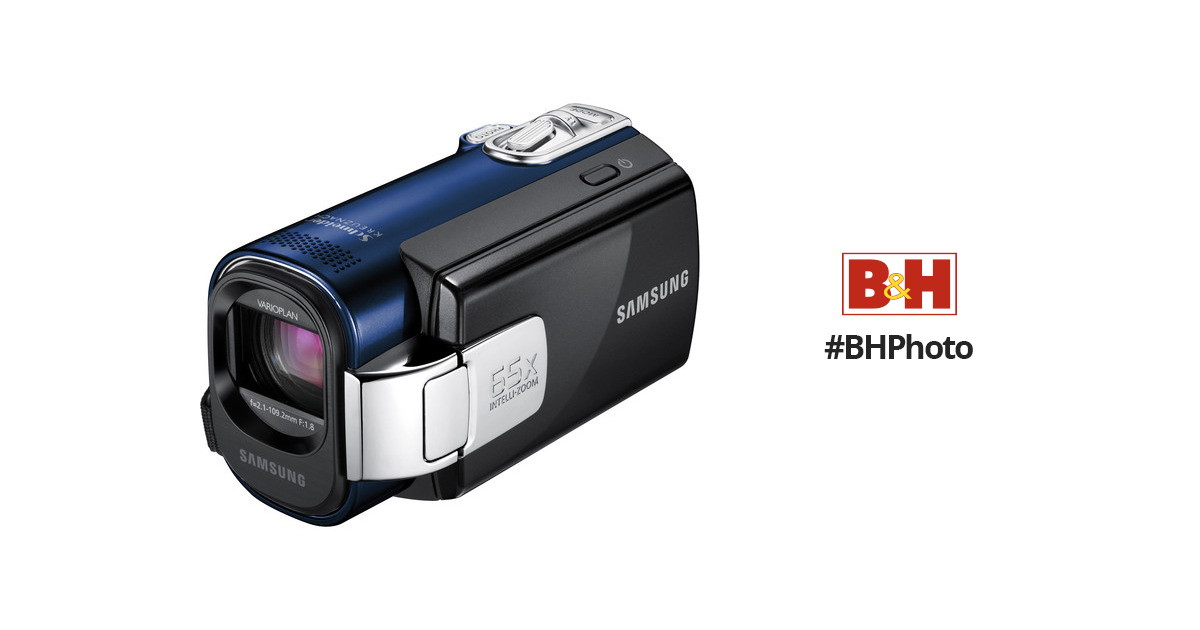 samsung smx f44 digital memory camcorder blue smx f44ln xaa rh bhphotovideo com Samsung 52X Camcorder Manual Samsung 65X Intelli Zoom Manual