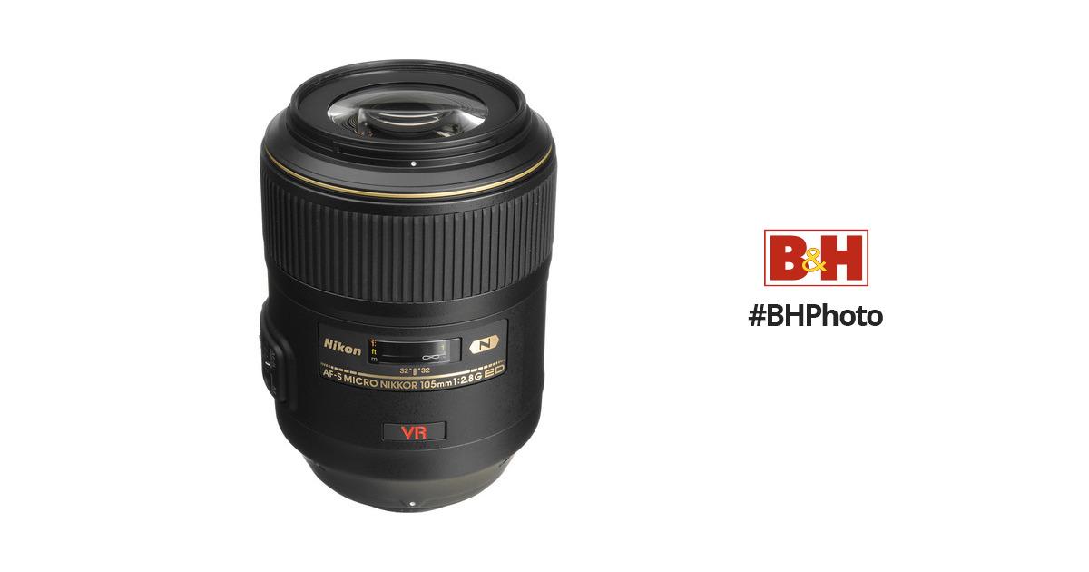 Nikon AF-S VR Micro-NIKKOR 105mm f/2 8G IF-ED Lens (Refurbished by Nikon  USA)