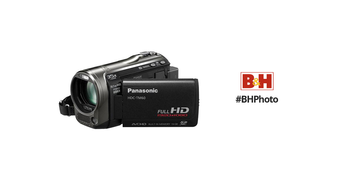 panasonic hdc tm60 hd pal camcorder black hdc tm60ke b h photo rh bhphotovideo com panasonic hdc-sd60 instruction manual Panasonic HDC TM60 Charger