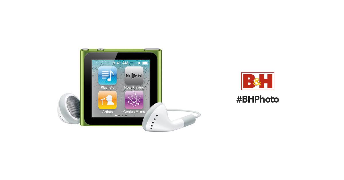 apple 16gb ipod nano green 6th generation mc696ll a b h rh bhphotovideo com ipod nano 6 generation manual ipod nano 6th generation user manual
