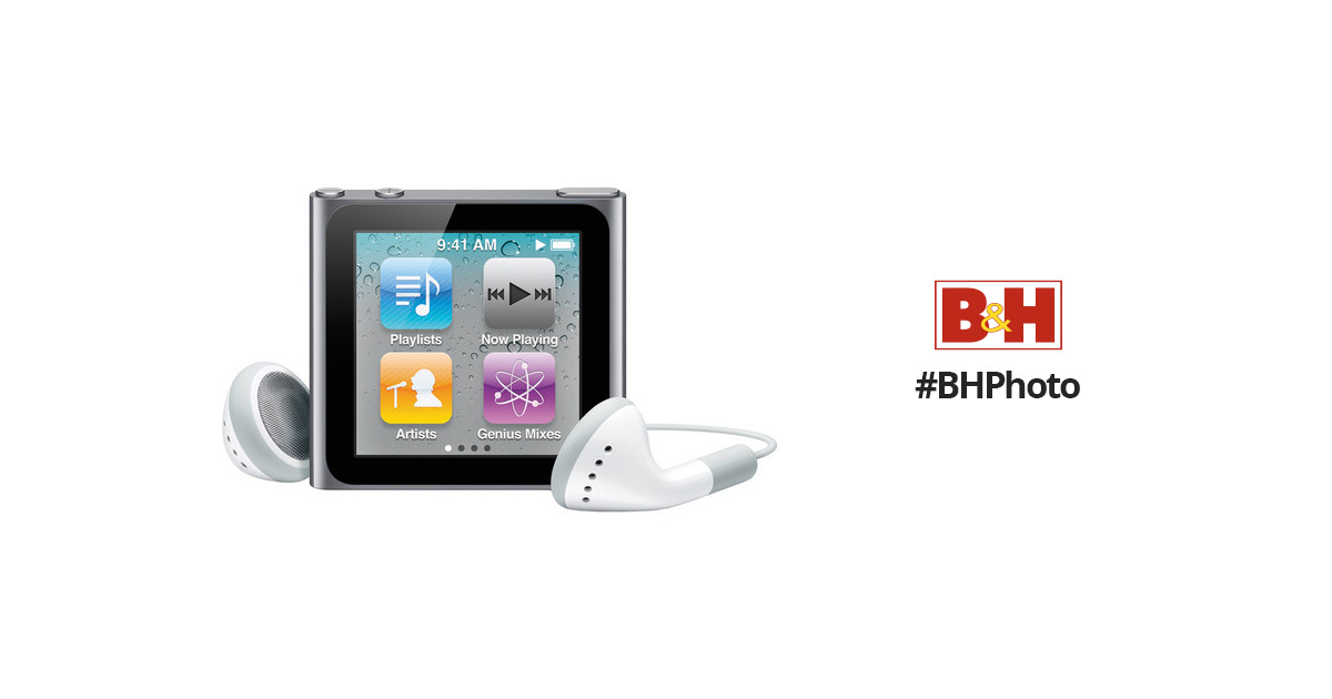 apple 8gb ipod nano silver 6th generation mc525ll a b h rh bhphotovideo com iPod Touch 6th Generation iPod Model Mc525ll