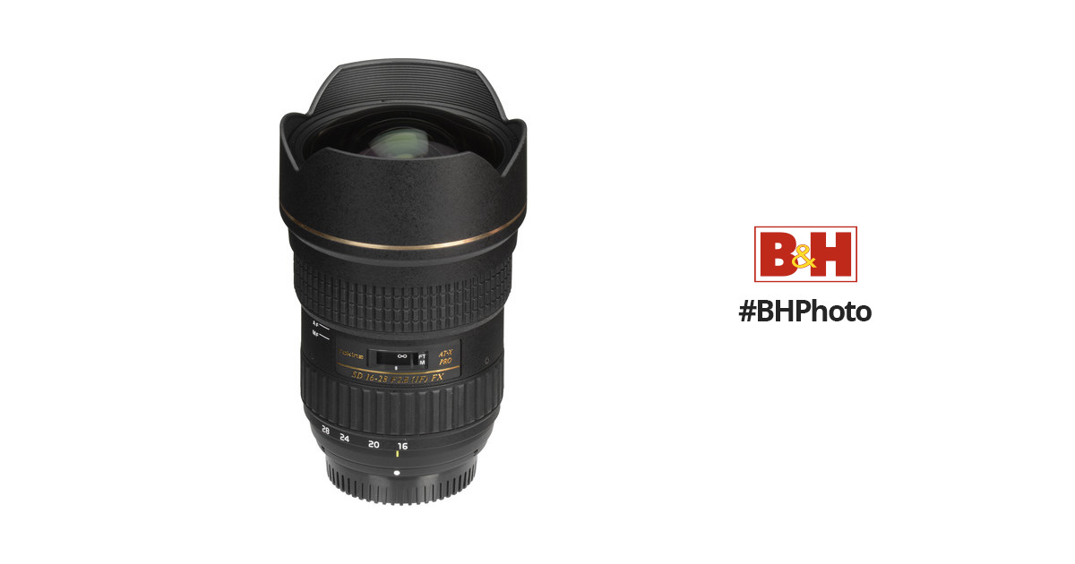 Tokina AT-X 16-28mm f/2.8 Pro FX Lens for Canon ATXAF168FXC B&H