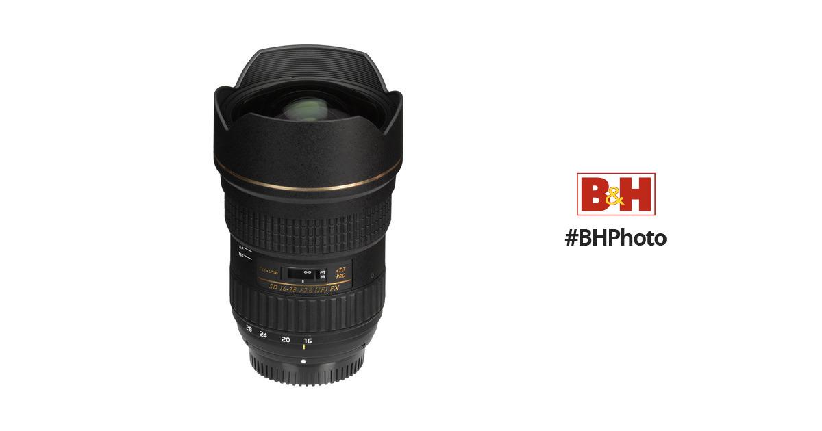 Tokina AT-X 16-28mm f/2.8 Pro FX Lens for Nikon ATXAF168FXN B&H