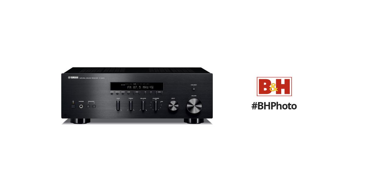yamaha r s300 natural sound stereo receiver r s300bl b h photo. Black Bedroom Furniture Sets. Home Design Ideas