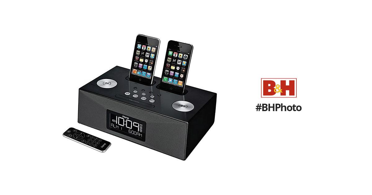 iHome iP86 Dual Dock Alarm Clock Radio for iPhone/iPod (Black)