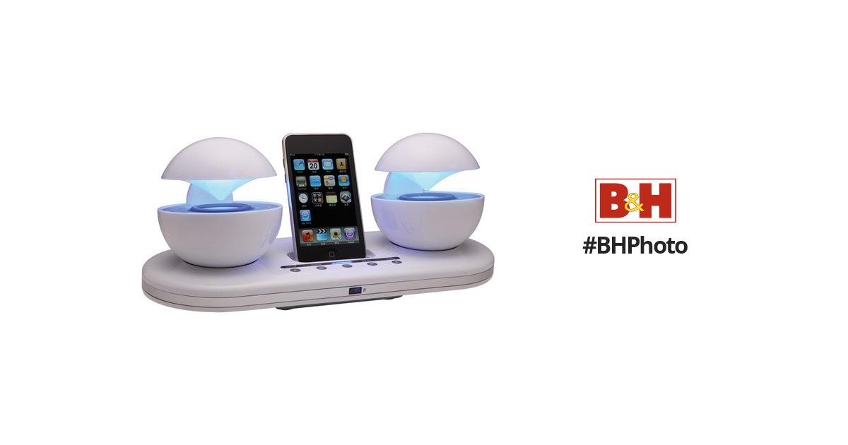 Speakal iCrystal iPod Docking Station (White) ICRYSTAL-WHT-01
