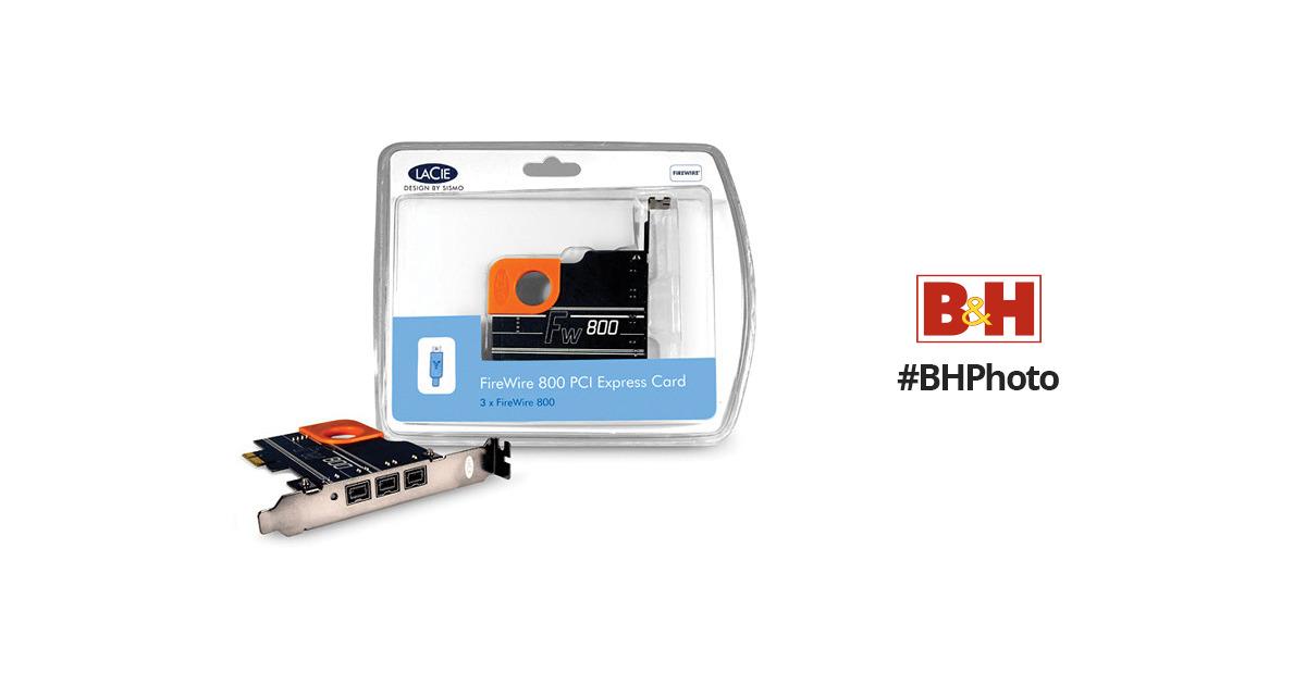LaCie 3-Port Firewire 800 PCI Express Card 130988 B&H Photo