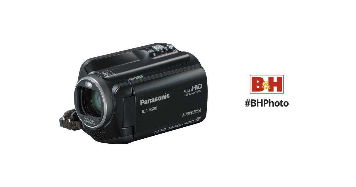 panasonic hdc hs80 camcorder hdc hs80k b h photo video rh bhphotovideo com Panasonic TV Manual Panasonic Owner's Manual