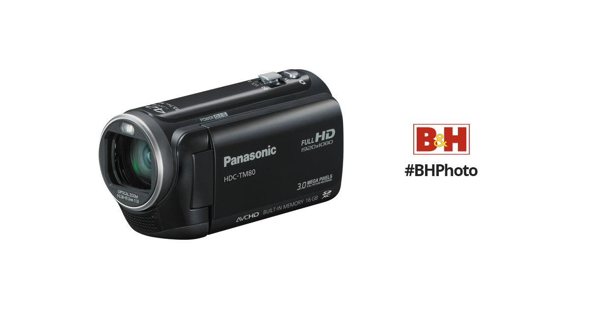 panasonic hdc tm80 high definition camcorder black hdc tm80k rh bhphotovideo com Panasonic Cordless Phones Manual Panasonic Radio