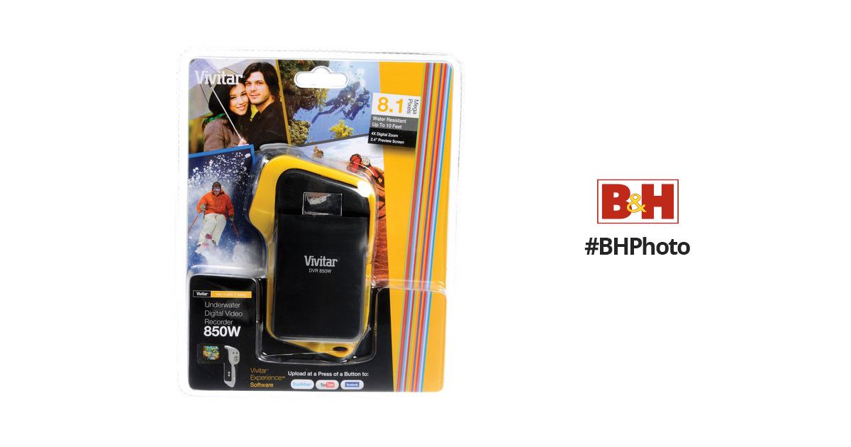 vivitar dvr 850w underwater digital camcorder dvr850 yel b h rh bhphotovideo com Vivitar DVR 949HD User Manual Vivitar Camcorder DVD