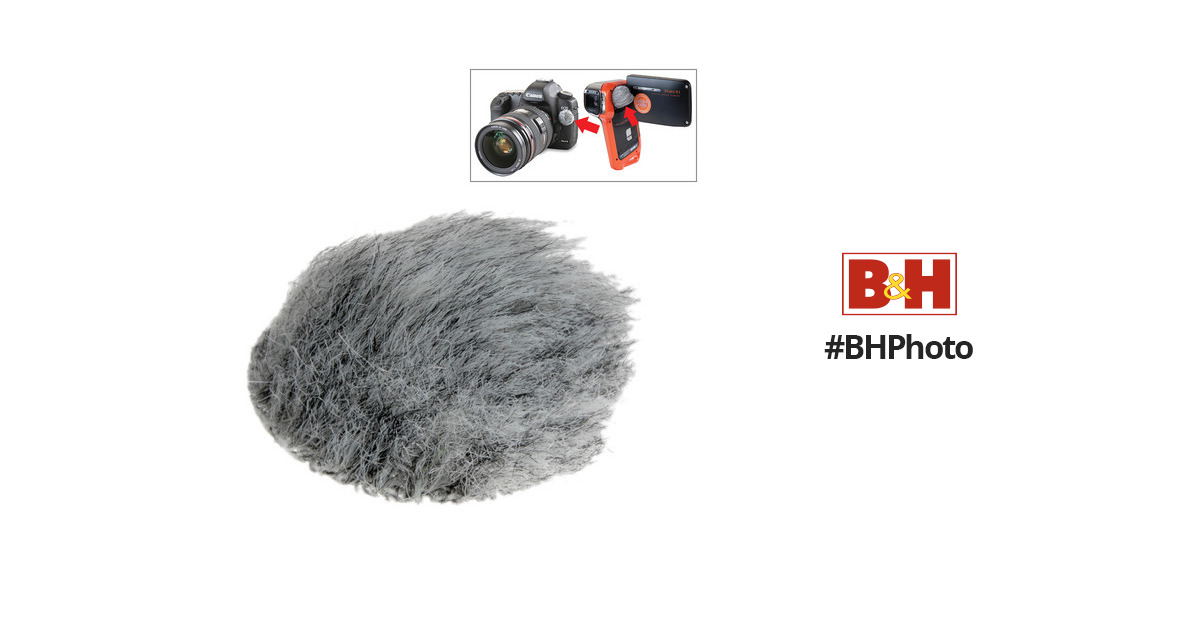 Rycote Micro Windjammers for On Board Camera and Mobile Phone Microphones with 30 Stickies and 6 Re-usable Fur Covers