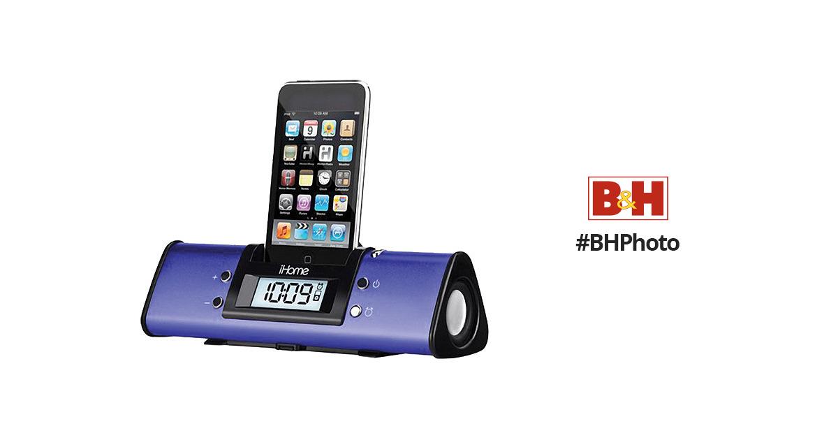 iHome iH16 Travel Alarm Clock for iPod (Purple)