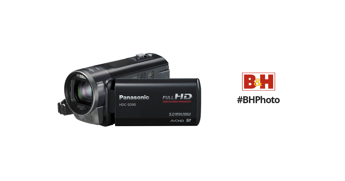 panasonic hdc sd90 full hd 1080p pal camcorder hdcsd90ke b h rh bhphotovideo com Panasonic Palmcorder IQ ManualDownload Panasonic 3CCD User Guide