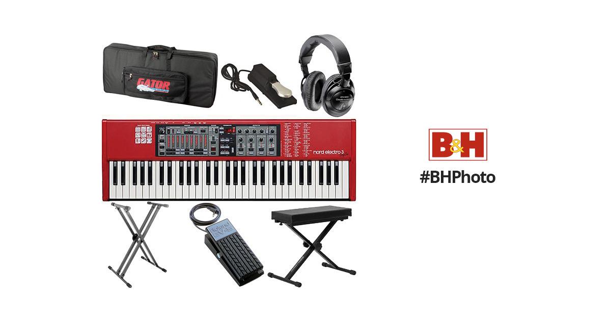 Nord Electro 3 Value Bundle (61 Key) - Live Keyboard Kit