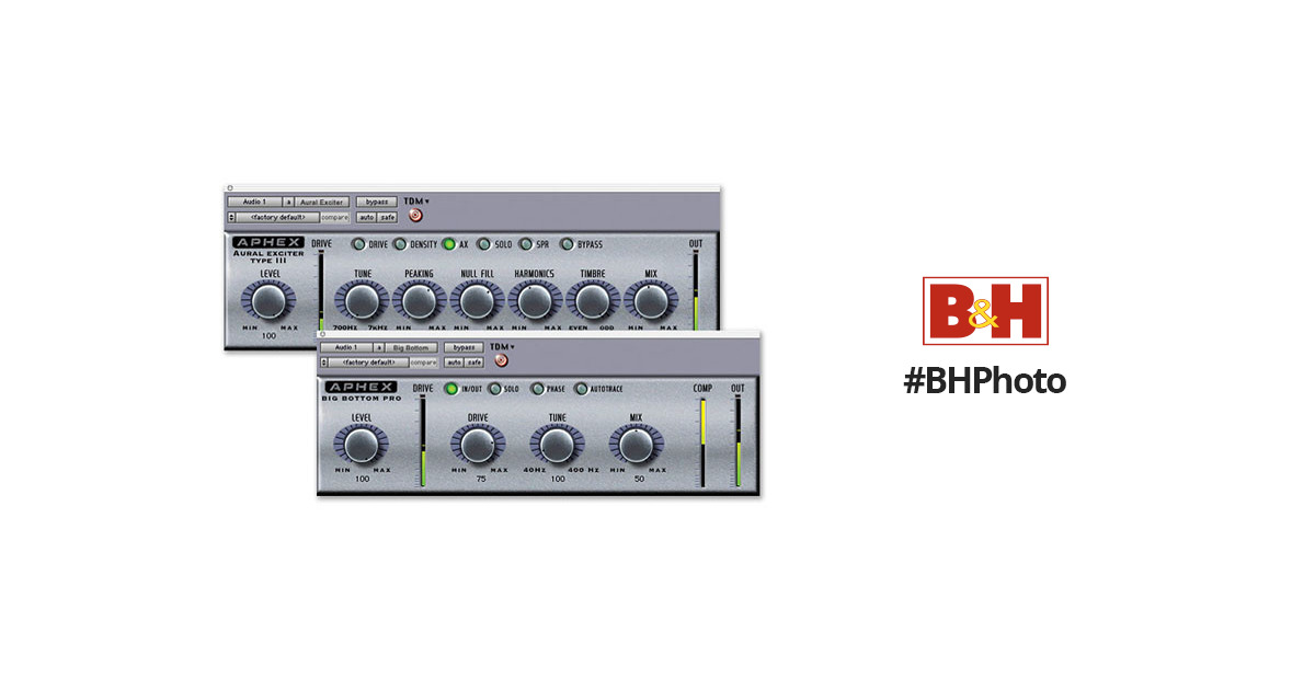 Digidesign Aphex Aural Exciter and Big Bottom Pro Bundle - Sound  Enhancement Plug-Ins (TDM)