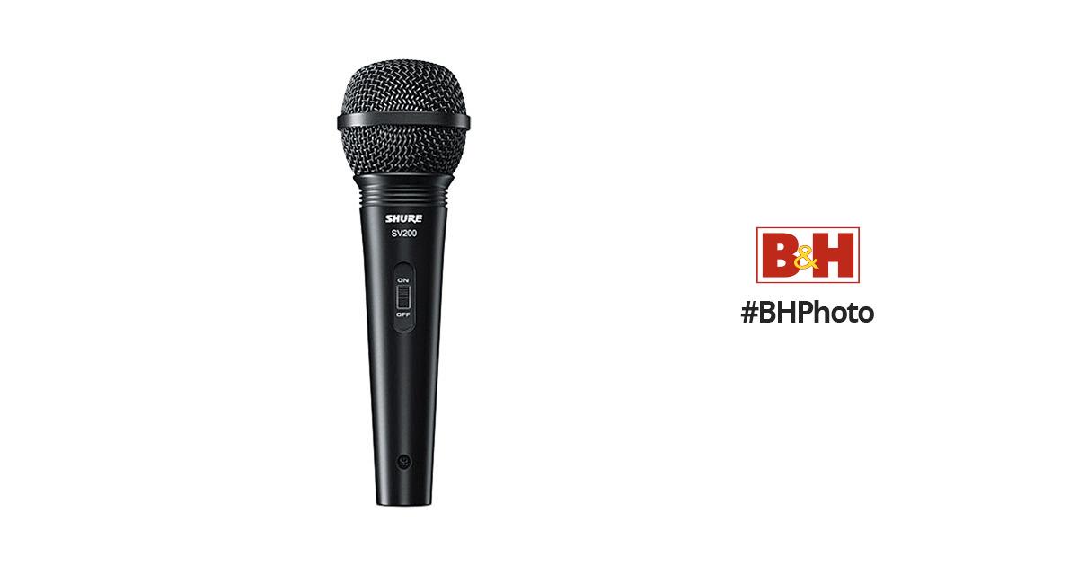 Shure SV200-W Microfono vocale dinamico cardioide multiuso con griglia a sfera resistente alle ammaccature interruttore on//off e cavo da 15 XLR-a 1//4