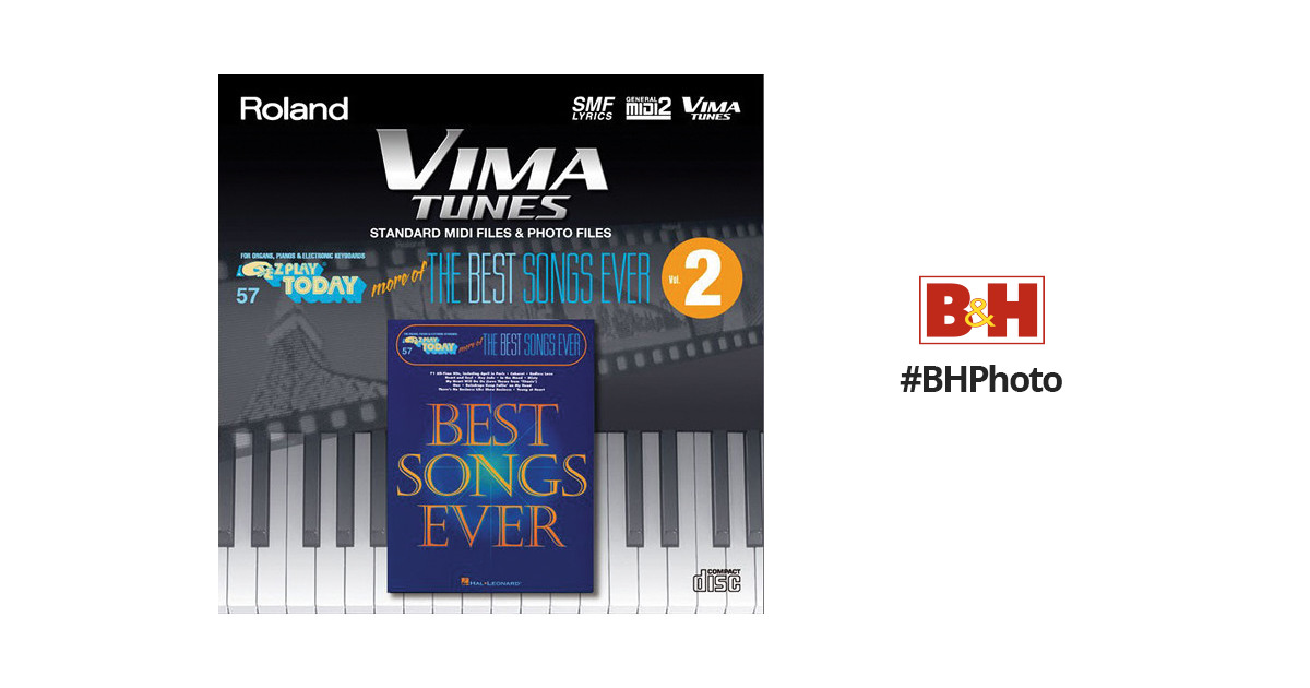 Roland vima tunes more of the best songs ever vol 2 hl650690 for Best house tunes of all time