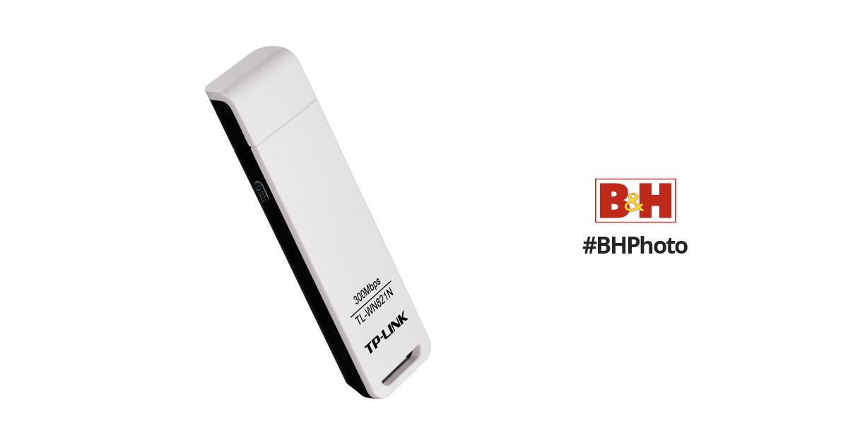 TP-Link TL-WN821N Wireless-N300 USB Adapter TL-WN821N B\u0026H Photo