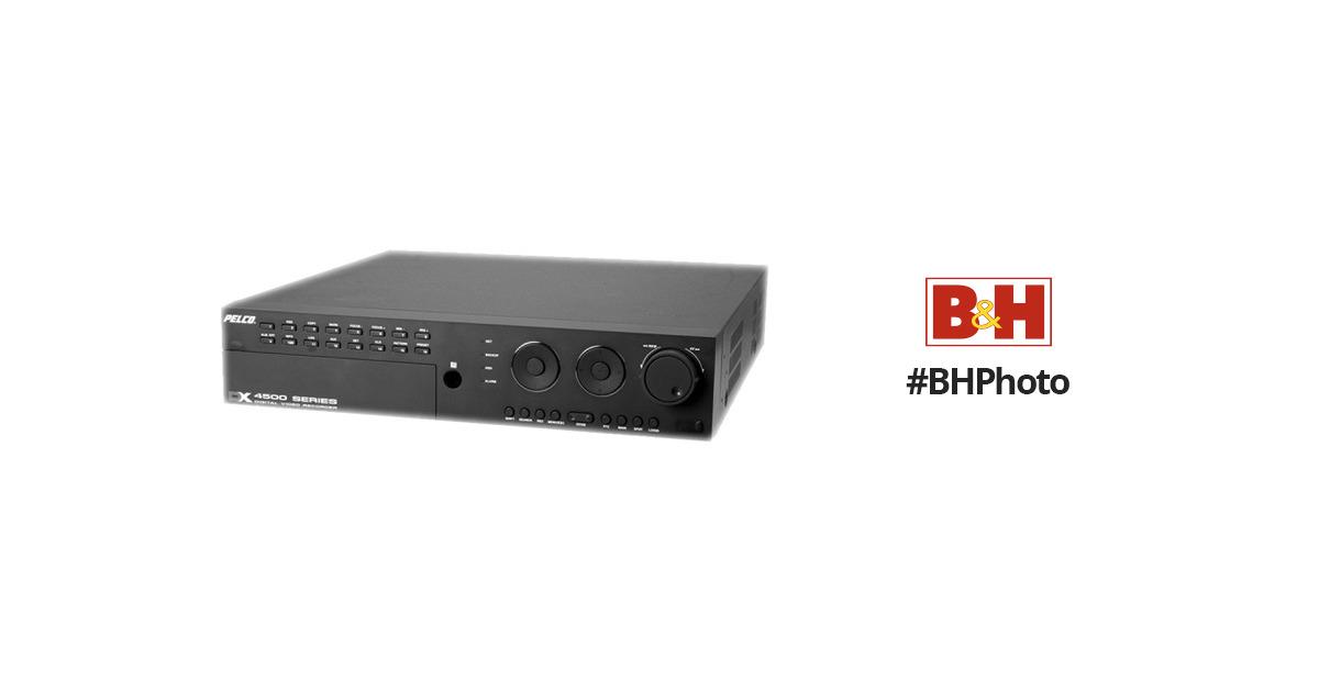 pelco dx4500 16 channel dvr 4 tb dx45164000 b h photo video rh bhphotovideo com Manuals in PDF Instruction Manual