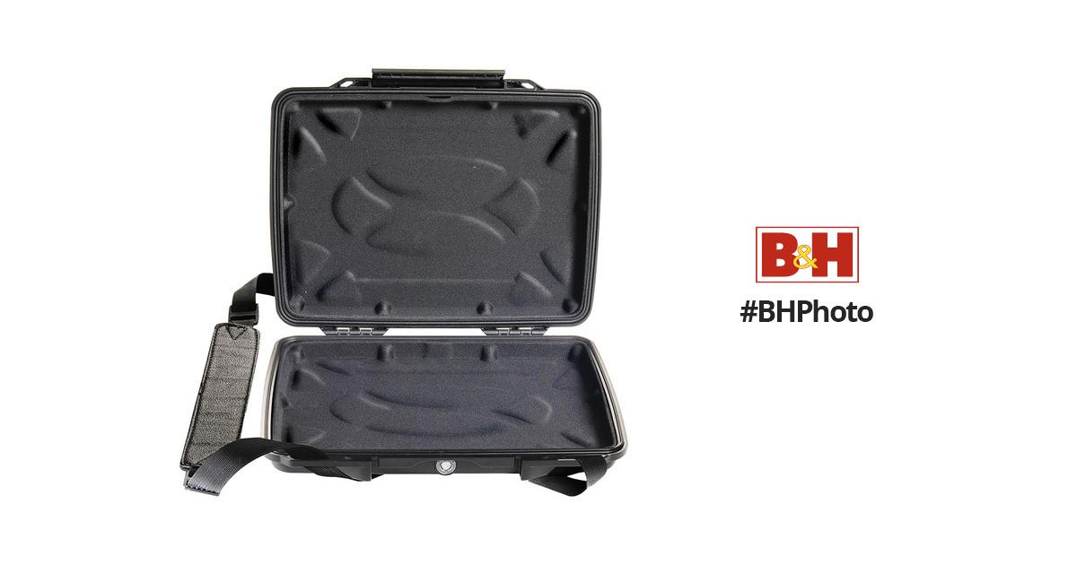 Black #1070-003-110 Pelican 1075CC Hardback Case with Netbook Liner