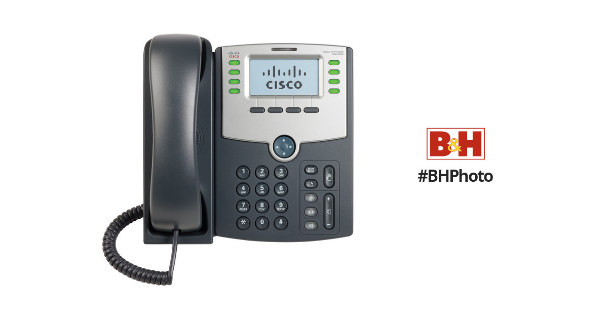 Cisco SPA508G 8-Line IP Phone with 2-Port Switch PoE and LCD Display