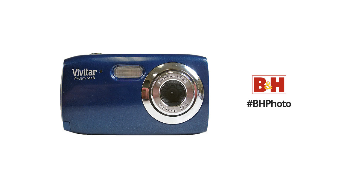 vivitar vivicam 5118 digital camera blue v5118 blu b h photo rh bhphotovideo com vivitar vivicam 5118 manual