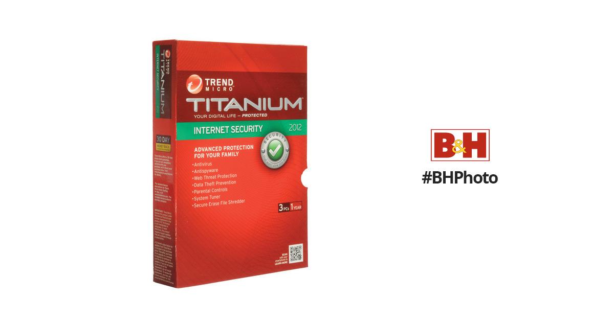 Trend Micro Titanium Internet Security 2012 TITIS38582 B&H Photo