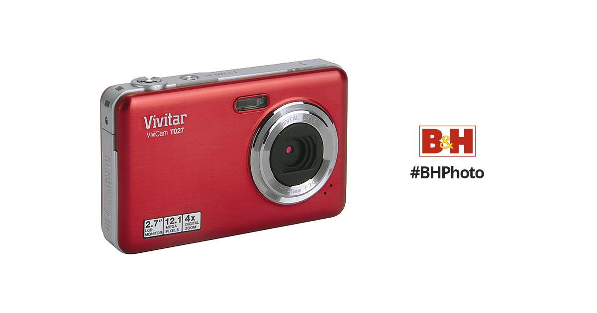 vivitar vivicam t027 digital camera strawberry vt027 straw b h rh bhphotovideo com