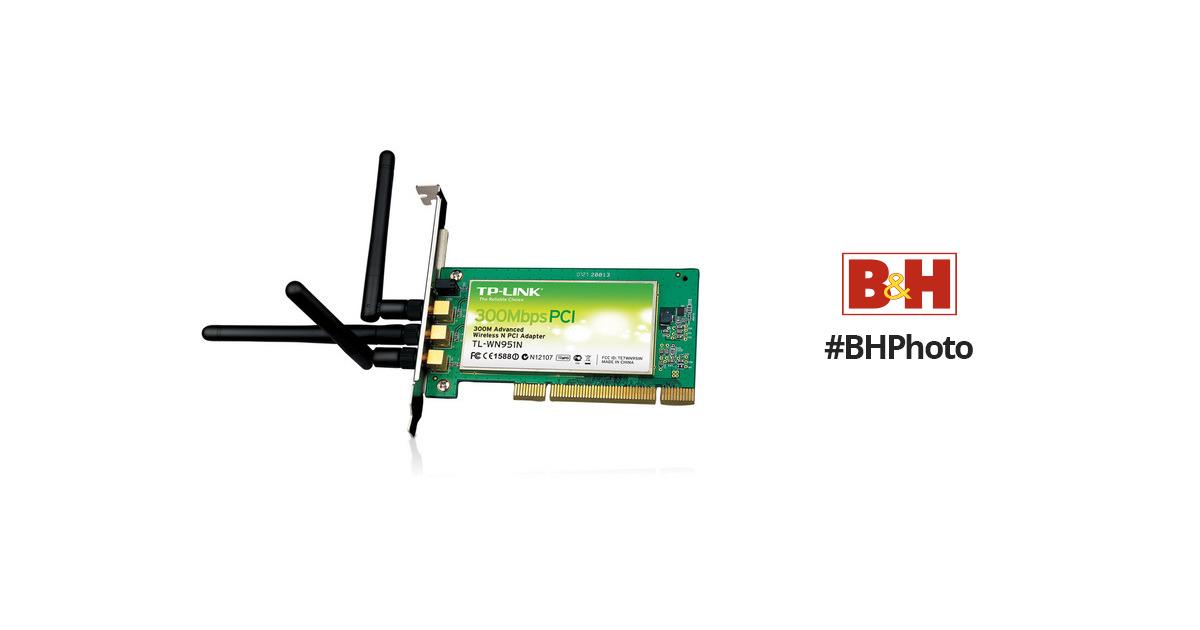 TP-Link TL-WN951N 300Mbps Wireless-N PCI Adapter TL-WN951N B\u0026H