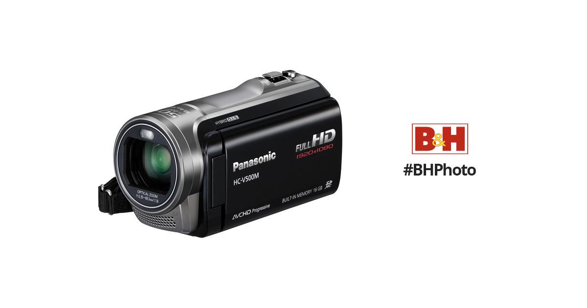panasonic 16gb v500m full hd camcorder hc v500mk b h photo video rh bhphotovideo com