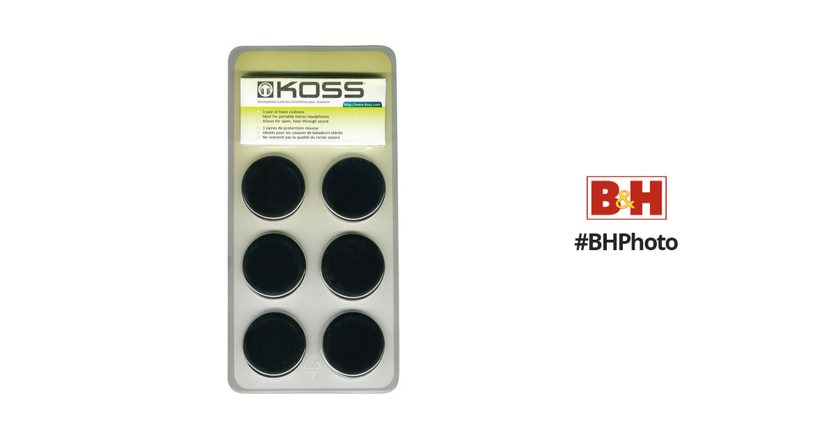 Koss Portable Replacement Cushions 159071 Bh Photo Video