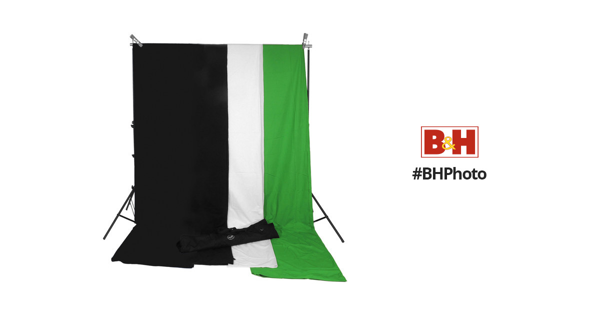 Impact Background System Kit With 10x12 Black Bgs 1012