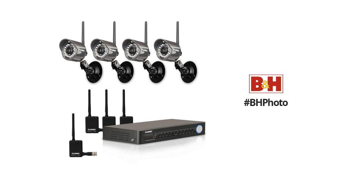 lorex digital wireless security camera system lh114501c4w b u0026h