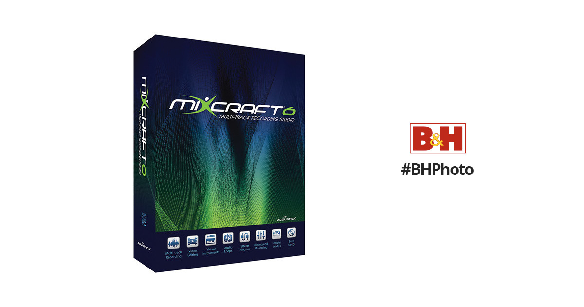 Acoustica Mixcraft 6 - Music Production and Multi-Track Recording Software
